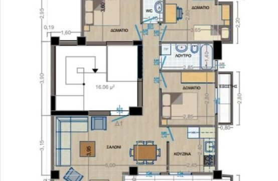 Flat for For Sale in Kalamaria, Thessaloniki – 110 sq.m.